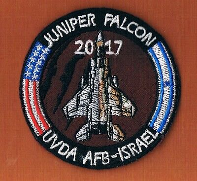 USAF & ISRAEL AIR FORCE JUNIPER FALCON 2017 EXERCISE F-15 494th & RAAM PATCH