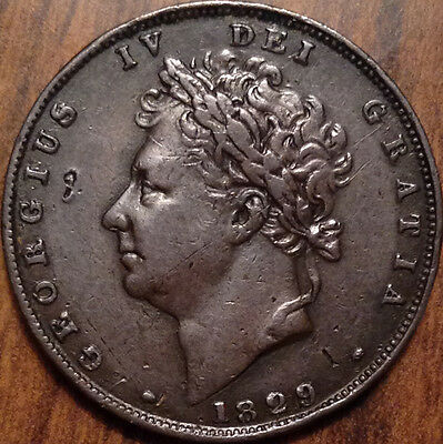 1829 Uk Gb Great Britain Farthing In Great Condition !