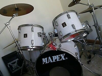 Mapex drum kit with Paiste cymbals