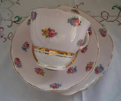 Vintage 1930s / 1940s Colclough Bone China Trio Tea Set