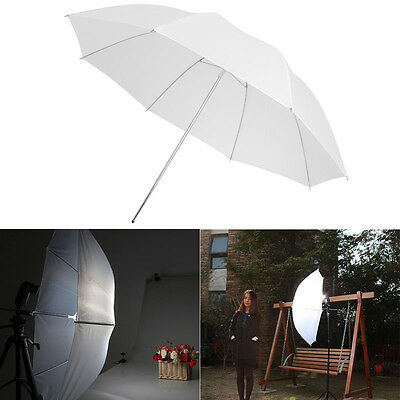1Pc White Studio Standard Flash Diffuser Translucent Soft Light Umbrella 33""