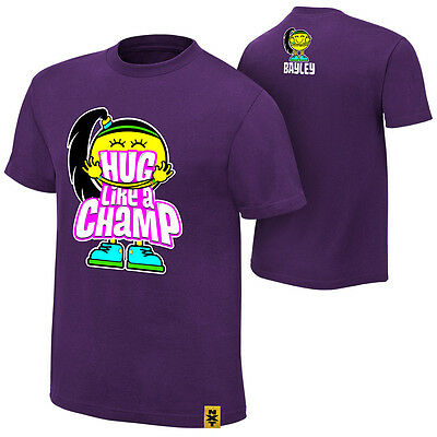 "WWE: Bayley ""Hug Like A Champ"" Authentic T-Shirt - Official Store"