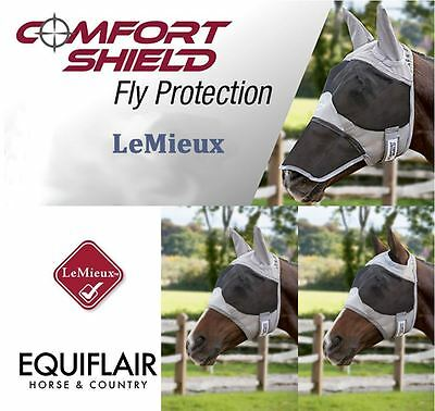 LeMieux Comfort Fly Shield Turnout Mask - Half / Full / No Ears