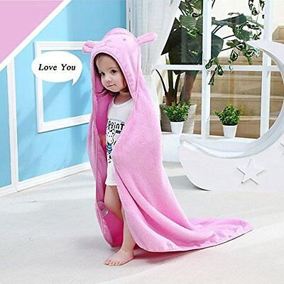 Baby Cotton Hooded Towel Bath Bear Ear Soft Girls Infant Toddler Shower Gift NEW