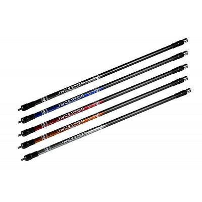 """Mybo Archery Inceptor Long Rod Stabilizer Damper/Weights 18mm 27"""" 30"""" Colours"""