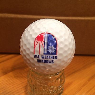 All Weather Windows Logo Golf Ball, Old Vintage