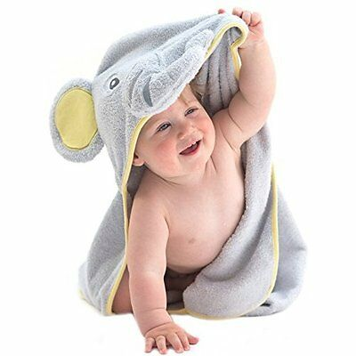 Baby Cotton Hooded Towel Bath Natural Soft Boys Infant Elephant Shower Gift NEW
