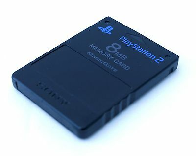 Official Sony PlayStation 2 8mb Memory Card Black
