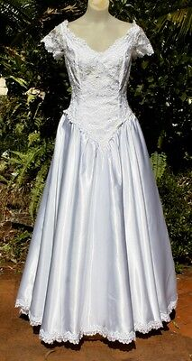VINTAGE WEDDING Debut DRESS 1980s Beaded Lace, PARTY TIME, Wedding, 10