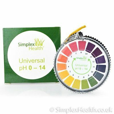 Simplex Health pH Indicator Litmus Test Paper Strip Roll, 0 - 14 For Water Urine