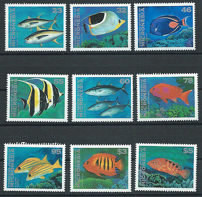 Micronesia , 1996 , Fish , Set Of 9 Stamps ,  Perf, Mnh