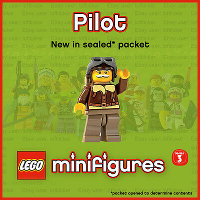 Lego Series 3 Minifigure - Pilot GENUINE LEGO NEW 2011 col03-2 8803