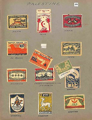 J72 - Palestine Match Box Labels
