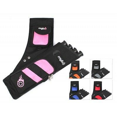 Mybo Q4 Archery Target Quiver - 4 Tubes - Right / Left Hand - Variety Of Colours
