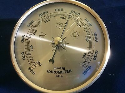 Barometer  Insert 108Mm / 4 1/4 Inch Gold Colour