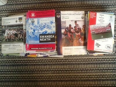 Joblot 150 Swansea Rugby Union Programmes Home And Away Mostly 1990S