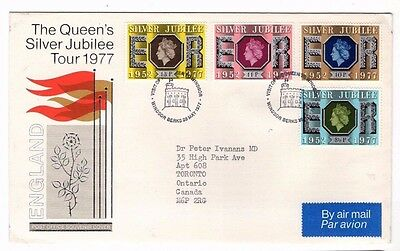 1977 The Queen's Silver Jubilee Tour England Windsor Fdc From Collection Z2/2