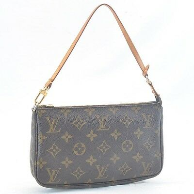 Authentic  Louis Vuitton Monogram Pochette Accessoires Pouch M51980 #SS971 +
