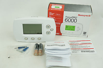 Honeywell TH6220D1002 FocusPro 6000 Programmable 2 Heat Cooling Thermostat 5-1-1