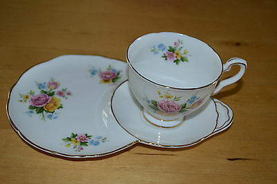 Royal Stafford Bone China Combined Cup Saucer & Plate