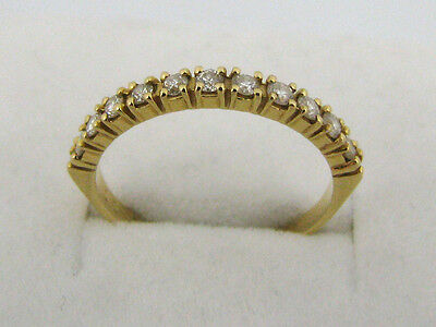 Demi-alliance or 18 K 11 diamants 0,30 carat T.53
