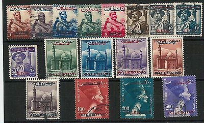 60923 - EGYPT Palestine - STAMPS: 1955 complete year 18 STAMPS - USED -  NICE