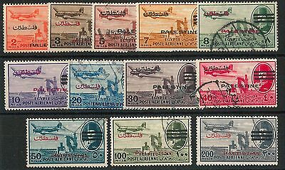60925 - EGYPT Palestine - 12 STAMPS:  3 bars over KING FAROUK  USED - VERY NICE