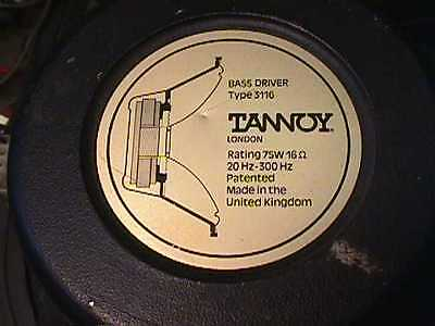 Tannoy Vintage Speakers Bass Unit Pair And Mid/treble Dual Concentric With Kefxo