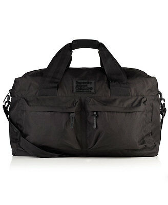 New Mens Superdry XL Silicone Montana Holdall Black