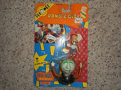 1988 Pee Wee's Playhouse Matchbox Globey and Randy MOSC MISP #1