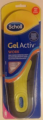 Scholl Gel Activ Work Insoles-Women -FITS SHOE SIZE UK (5-8) -1 Pair(Genuine)