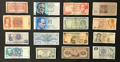 16 Mixed European Banknote Collection - Europe. (1059)