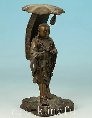 Blessing Bronze Casting xuanzang Monk Buddha Statue