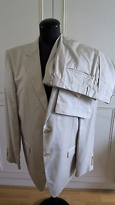 Gucci by Tom Ford ivory cream pinstripe men's silk suit 28R2FN UK44R EUR54 W36
