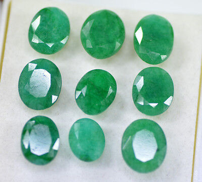 72.10 Ct/9 Pcs Top Colombian Natural Green Emerald Gemstone Lot For Sale~CD6553