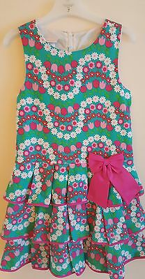 Girls floral summer party dress size 6 years