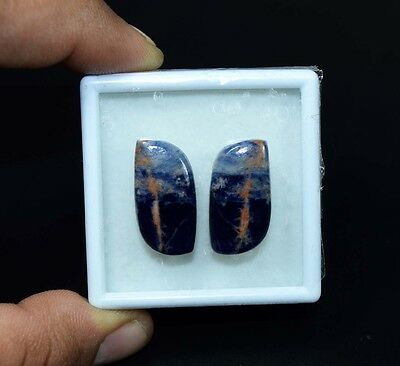 25.10 Cts. 100% Natural Pair Of Multi Sodalite Fancy Cabochon Loose Gemstones