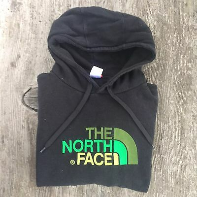 The North Face Men's Black Green Text Casual Hoodie Jumper Large Outdoor