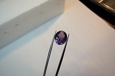 stunning  lab created man made 10x8 oval alexandrite faceted color change ct3.00