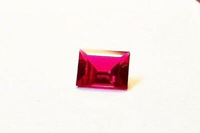 lab created beautiful stunning 10x8 rectangular faceted  ruby total carat 3.70