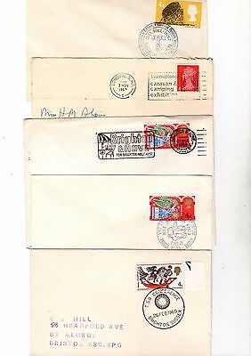 1969 Qeii Special Postmark Covers X 5 From Collection 2/9