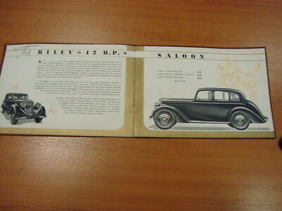 Riley 12 And 16 Sales Brochure