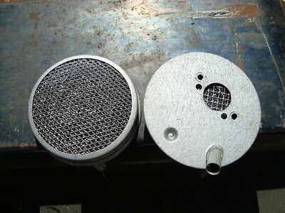 """Pair 1-1/4"""" Cooper Washable Mesh Air Filters With Breather Pipe"""