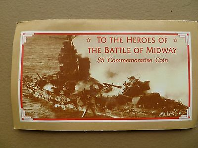 Heroes of the Battle of Midway  $5.00 Commemorative Coin...Uncirculated.