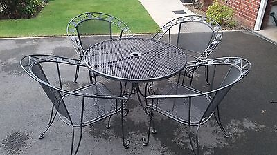 metal garden patio table and chairs
