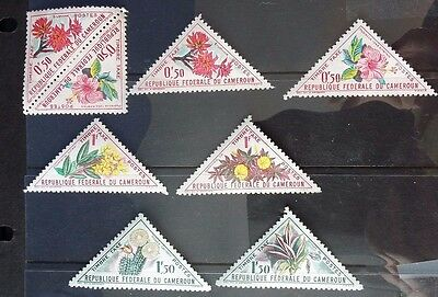 Cameroun 1963 Flowers Postage Due stamps SG D342-347