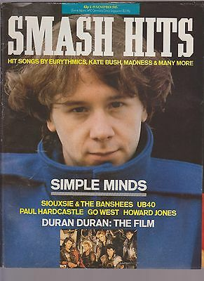 SMASH HITS vol 7 no 22 UK MUSIC MAGAZINE 6 NOV 1985 SIMPLE MINDS DURAN DURAN