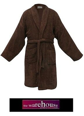 400Gsm Heavy 100% Egyptian Cotton Towelling Bathrobe Bath Robe Chocolate Brown