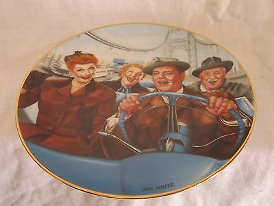 I Love Lucy Collector Plate California, Here We Come with certificate (JC)