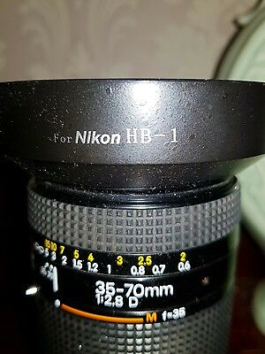 12 hour sale  Nikon Zoom-Nikkor 35-70mm f/2.8 D AF S Lens